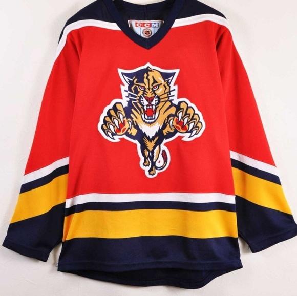 best website 303b6 d68b7 Vintage 90s Florida Panthers CCM Hockey Jersey